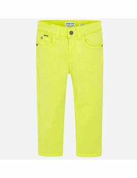 Pantalon Mayoral Sarga Slim Fit Basico Amarillo Ni
