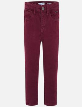 Pantalon Mayoral 5b Slim Fit Basico Granate Niño