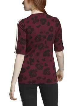 Camiseta Adidas Allover Print Granate/Negro